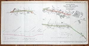 LONDON STREET PLAN, BANK, LONDON WALL,BARBICAN, HOUNDSDITCH, antique map 1838