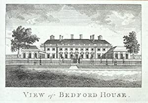 LONDON, BEDFORD HOUSE, BLOOMSBURY antique print 1776