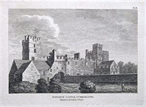 NAWORTH CASTLE, BRAMPTON, CUMBERLAND, CUMBRIA Original antique print 1784