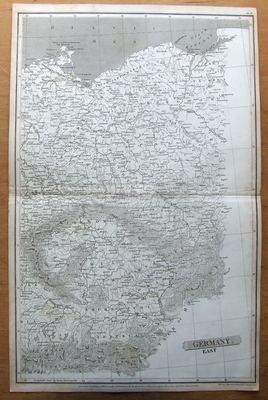 POLAND, EAST GERMANY Arrowsmith Original antique map 1807