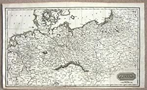 POLAND, PRUSSIA, GERMANY Kelly. orig. antique map 1817