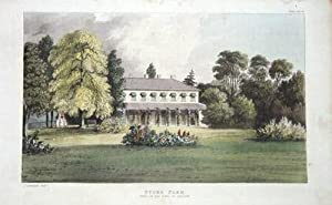 STOKE FARM,BERKSHIRE Ackermann Antique Print 1824
