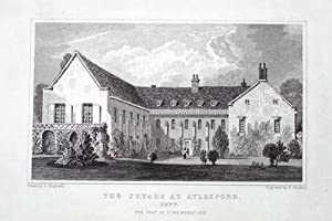 THE FRIARS, AYLESFORD, KENT Antique Print 1829
