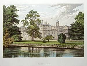WILTON HOUSE, SALISBURY,WILTSHIRE antique print c1880