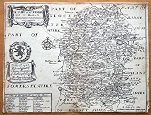 WILTSHIRE Richard Blome, T.Bakewell original antique map c1735