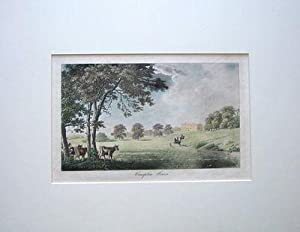 WILTSHIRE,CALNE, COMPTON HOUSE Hand Coloured Mounted Antique Print 1792