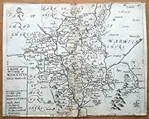 WORCESTERSHIRE Richard Blome, Thomas Bakewell Original antique map c1735