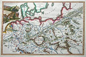 GERMANY C.Cellarius, Keller original antique map 1732