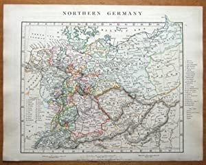 GERMANY, POLAND,CZECH REP. AUSTRIAN EMPIRE Arrowsmith original antique map 1828