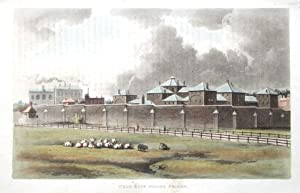 COLD BATH FIELDS PRISON, LONDON Ackermann Original Aquatint,Antique Print c1815