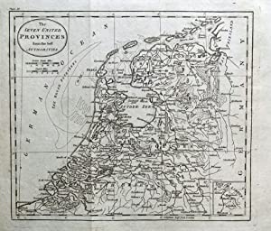 SEVEN UNITED PROVINCES OF THE NETHERLANDS W. Guthrie Original Antique Map 1793