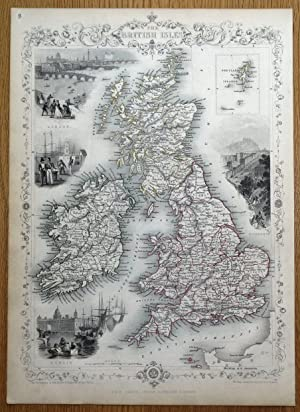 Shop british isles original anti collections art collectibles british isles rapkin tallis original antique map 1851 gumiabroncs Gallery