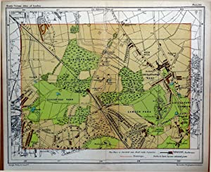 BROMLEY KENT CHISLEHURST SUNDRIDGE CAMDEN London Street Plan Antique Map c1910