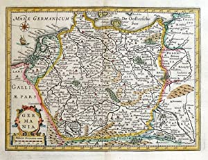 GERMANY, GERMANIA, Cluver, Jansson original antique map 1661