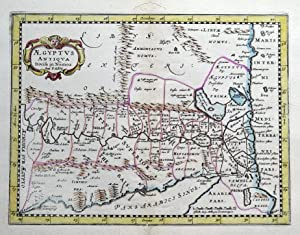 EGYPT, Pierre Du Val, Cluver, Jansson, antique map 1661