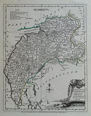 CUMBERLAND, CUMBRIA, Lake District, Ellis original antique map 1768