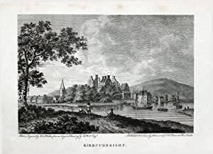 KIRKCUDBRIGHT SCOTLAND River Dee Copper Plate Magazine Scarce Antique Print 1792