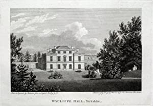WYCLIFFE HALL BARNARD CASTLE CO DURHAM Copper Plate Magazine Antique Print 1793
