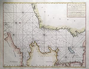 IRISH SEA, St. GEORGE'S CHANNEL, Greenville Collins Sea Chart antique map 1757