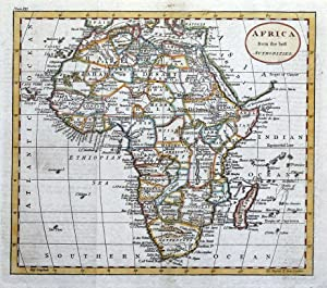 AFRICA, Russell/Guthrie original antique hand coloured map 1793