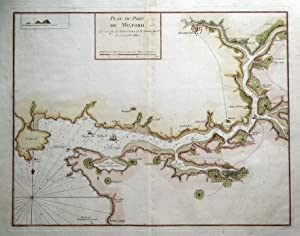 MILFORD HAVEN, PEMBROKE, WALES Greenville Collins Sea Chart antique map 1757