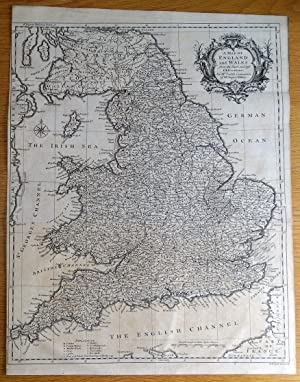 ENGLAND and WALES, RW.Seale Original antique map 1745