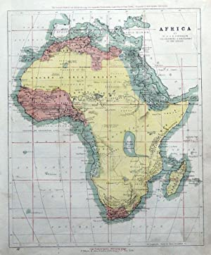 AFRICA, Johnston, original antique map 1862