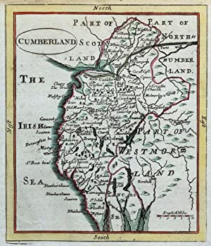 CUMBERLAND, CUMBRIA, Seller/Grose, Original Antique County Map c1780