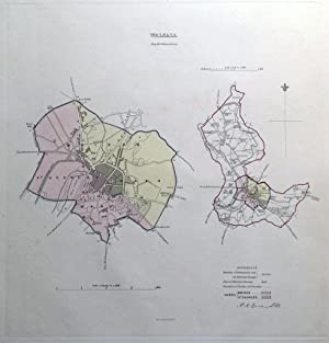 WALSALL, WEST MIDLANDS, UK, Street Plan, Dawson Original antique map 1832