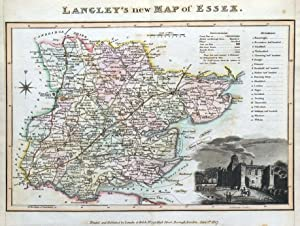 ESSEX, Langley & Belch Original Antique County Map 1818