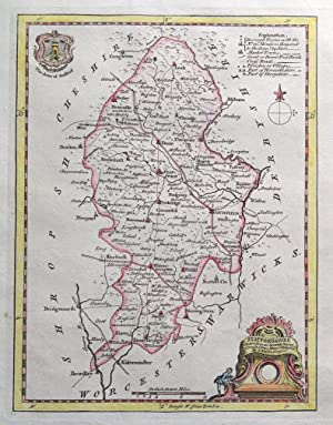STAFFORDSHIRE, Thomas Kitchin, Original Antique County Map c1780