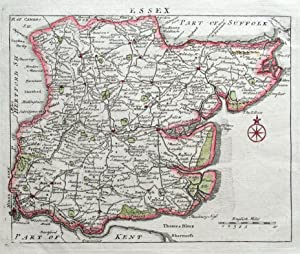 ESSEX, John Rocque Original Antique County Map 1769