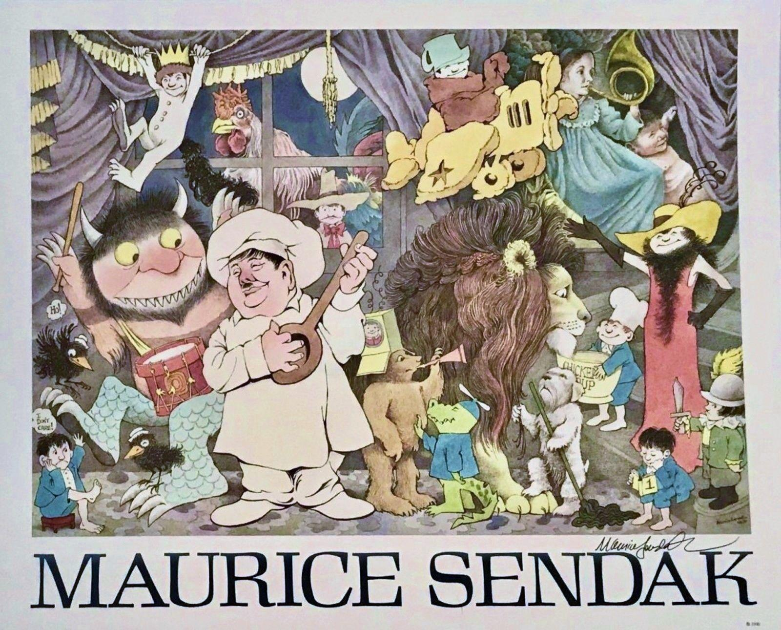 maurice sendak  CELEBRATION OF MAURICE SENDAK SIGNED POSTER (Where The Wild Things ...