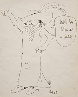 MAURICE SENDAK~LARGE ORIGINAL CHARACTER DRAWING OF ROSIE, author of~ Where The Wild Things Are, W...