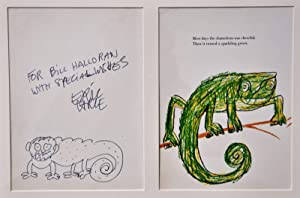 ERIC CARLE ORIGINAL ARTWORK~THE MIXED-UP CHAMELEON ( author of The Very Hungry Caterpillar)
