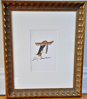 LUDWIG BEMELMANS FRAMED ORIGINAL ARTWORK (author of Madeline)
