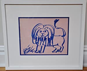 ERIC CARLE ORIGINAL DRAWING OF A LION (author of The Very Hungry Caterpillar)