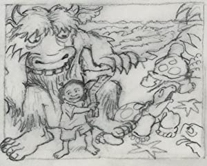 WHERE THE WILD THINGS ARE~ BELL ATLANTIC WILD THINGS ARE HAPPENING ORIGINAL NR FINAL DRAWING ~ MA...