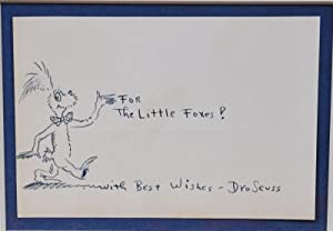 DR. SEUSS~ A WHIMSICAL FOX ORIGINAL DRAWING