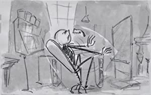 TIM BURTON AND WALT DISNEY ORIGINAL PRODUCTION STORYBOARD ART