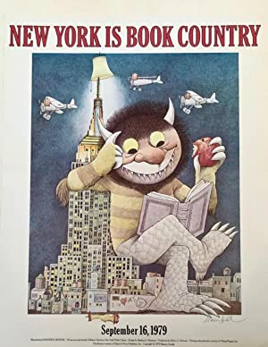 MAURICE SENDAK SIGNED POSTER - NEW YORK IS BOOK COUNTRY, IMPECCABLE PROVENANCE