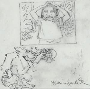 MAURICE SENDAK,SIGNED~ORIGINAL DRAWING,BELL ATLANTIC'S~WILD THINGS ARE HAPPENING
