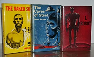 THE ROBOT SERIES (I ROBOT, CAVES OF STEEL, THE NAKED SUN) – ISAAC ASIMOV, SIGNED WITH LAID IN SIG...