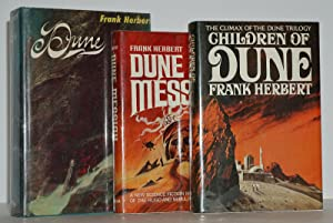 DUNE TRILOGY (FIRST STATE: DUNE, DUNE MESSIAH,: FRANK HERBERT
