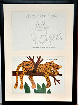 FRAMED ORIGINAL PEN & INK ERIC CARLE DRAWING~( HAVE YOU SEEN MY CAT ) auth.of The Very Hungry Cat...