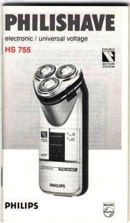 Philips Philishave electronic/universal voltage (INSTRUCTION BOOKLET ONLY!)