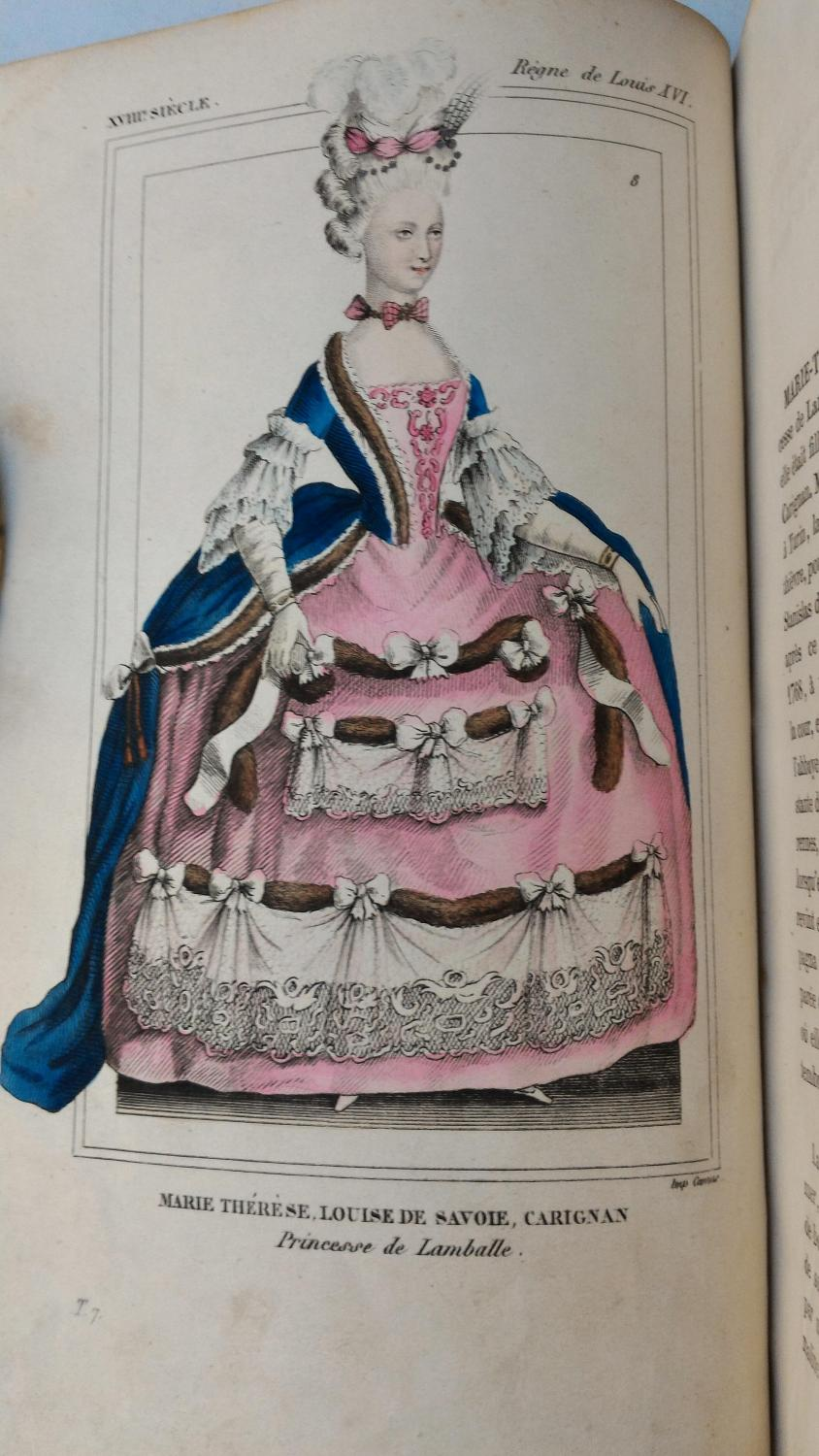 COSTUMES Historiques de la FRANCE , règne de LOUIS XVI à la Convention  bibliophile JACOB