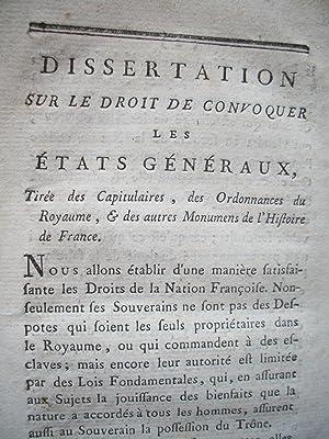 Dissertation histoire du droit louis xvi