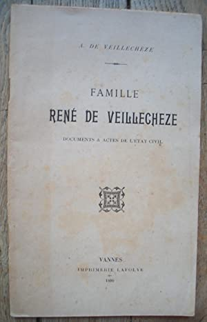 Famille de René de VEILLECHEZE Documents & actes de l'État Civil