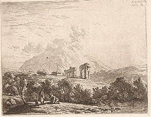PAYSAGE de Ruines- KAREL DUJARDIN - 1658: KAREL DUJARDIN